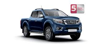 blue nissan truck navara pick up truck 4x4 5 year warranty nissan