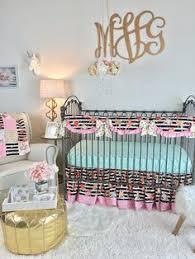 watercolor floral stripe crib skirt baby crib bedding