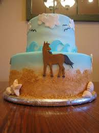 horse on the beach birthday cake cakecentral com
