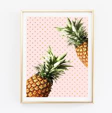 Pineapple Decorations For Kitchen by Pineapple Wall Art Pineapple Print Kitchen Wall Art Tropical