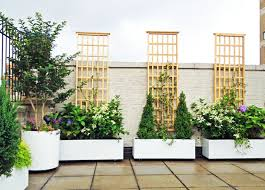 roof garden plants nyc roof garden white planters terrace deck paver patio