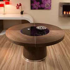 dining room table with lazy susan large round dark elm dining table black glass lazy susan led