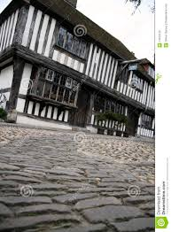 Tudor Houses by Cobbled Street Tudor House Historic Rye Uk Stock Photo Image