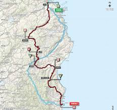 Sardinia Map Olbia Tortolì Stage 2 Of Giro D U0027italia 2017 In Sardinia