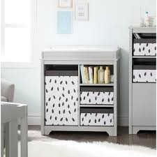 south shore savannah changing table with drawers gray maple south shore savannah 2 drawer changing dresser reviews wayfair