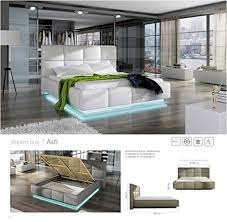 Contemporary Platform Bed Go Asti Light Grey Modern Platform Bed Queen Size With Storage And
