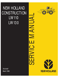 new holland lw110 lw130 loader service manual transmission