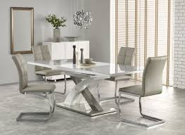 White Glass Extending Dining Table Buy Harmony High Gloss White With Grey Glass Dining Table Buy