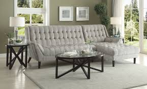baby natalia sectional sofa dove grey sectional sofas coa 503777 3