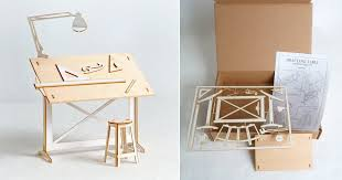 Architect Drafting Table Miniature Drafting Table Model Kit The Colossal Shop