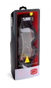100 motocross goggle racecraft bootcamp 100 forecast rolloff film system forecast rolloff system