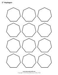 heptagon template heptagram pinterest template english