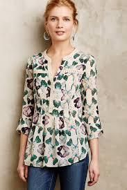 maeve clothing lyst maeve abella pintuck blouse