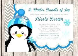 penguin baby shower winter baby shower invitations mounttaishan info