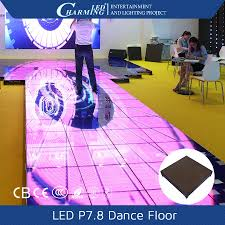 rgb toughened glass 3d flooring led dance floor led bar weddings