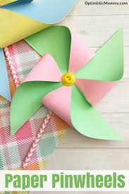making paper pinwheels tutorial perfect spring craft for kids