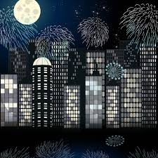 cityscape backdrop 10x10ft moon fireworks sky cityscape buildings
