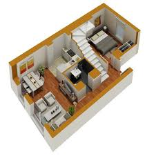 layout of house 3d small home plans residence with small budget tiny houses