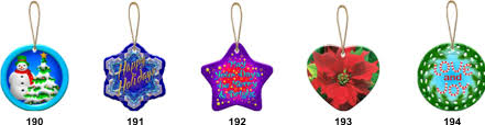sublimation blanks ceramic ornaments