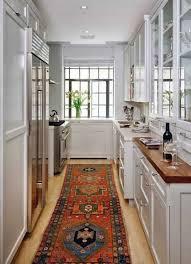 Kitchen Galley Ideas Best Looking Galley Kitchen Design With Wooden Cabinet Idea Turn