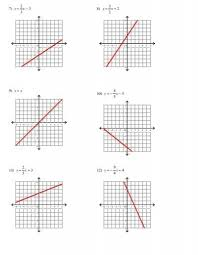 all worksheets graphing linear equations worksheets with answers