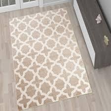 designer teppich designer teppich wohnzimmer teppich kurzflor beige modern muster