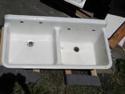 Antique Vintage Kitchen Farm Sink Double Basin  Cast Iron - Retro kitchen sink