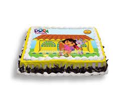dora the explorer photo cake 2 kg
