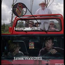 jeep memes in jurassic world the jeep used to escape was the same jeep that