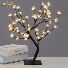 led cherry blossom tree light lights table l