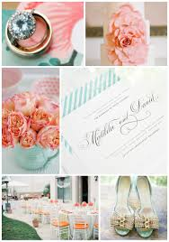 peach gold and aqua wedding inspiration u2013 wedding invitations