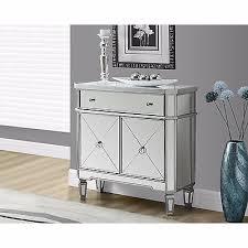 silver mirror table mirrored 2 door cabinet room chest storage