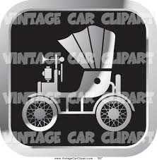vintage cars clipart clipart of a square silver and black vintage antique car with a