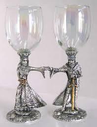 wedding goblets king arthur and guinevere renaissance wedding glass set