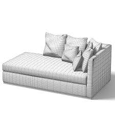 Contemporary Chaise Lounges Sofa Modern 3d 3ds