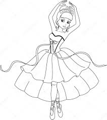 ballerina coloring u2014 stock vector malyaka 43384195