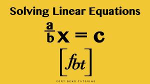 solving linear equations a b x c fbt