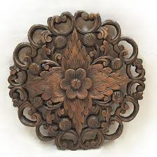 wall decor carved wood plaque on sale asiana