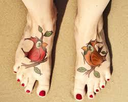 colored cardinal bird tattoo by dmtattoo
