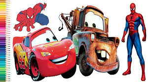 spiderman coloring pages for kids how to color spiderman w cars