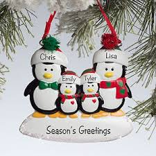 personalized penguin family ornament 50 at checkout