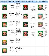 acnl hair hair colors styles w eye colors guide with pics and translations