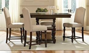 dining room counter height table height high back upholstered