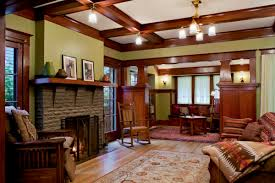 craftsman style homes interiors mesmerizing craftsman interior design with ergonomic arm chairs