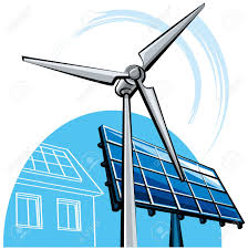 solar panels clipart windmill and solar panel royalty free cliparts vectors and stock