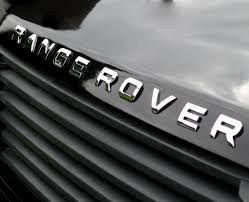 land rover logo black chrome lettering for range rover p38 bonnet letters badge