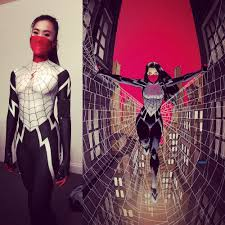 halloween costume spiderman silk cindy moon spider costume silk spider morph suit female woman