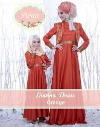 desain baju gaun anak contoh baju muslim couple ibu dan anak terbaru lucu dan keren
