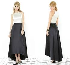 trend alert high low bridesmaids dresses pearls and lace