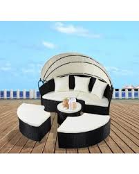 Find The Best Summer Savings On Costway Daybed Patio Sofa - Round outdoor sofa